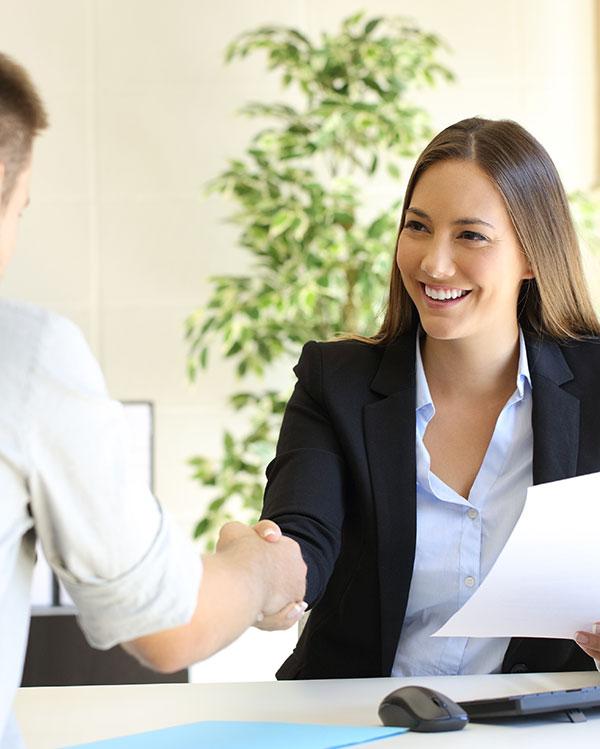 handshake during interview